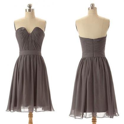 short bridesmaid dress, gray brides..