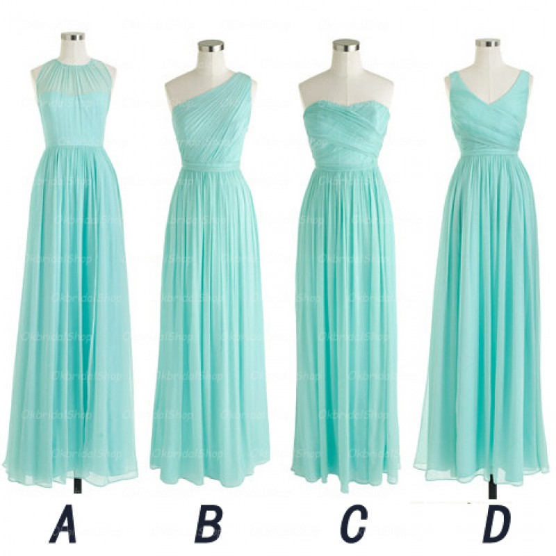 Tiffany Blue And Silver Bridesmaid Dresses 27