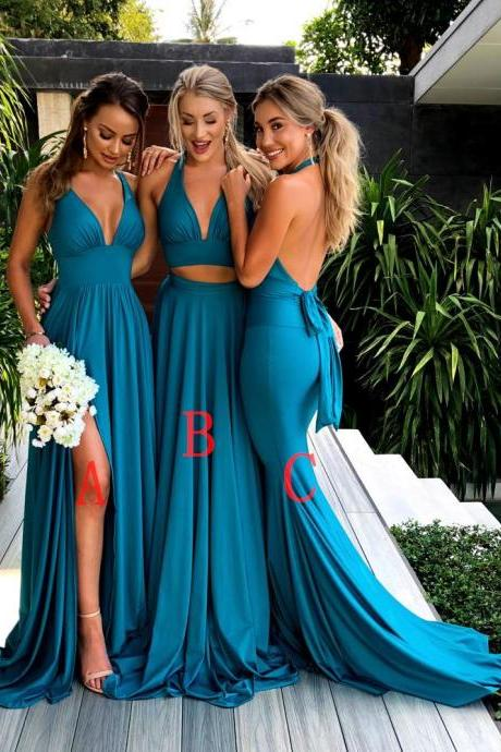 Teal Bridesmaid Dresses, Long Bridesmaid Dresses,Cheap Bridesmaid Dresses, Mismatched Elegant Bridesmaid Dresses,New Fashion Bridesmaid Dresses for wedding guest, prom dress,17907