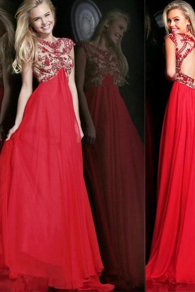 long prom dress, red prom dress, party prom dress, backless prom dress, cheap prom dress, long evening dress, prom dress 2015, 141245