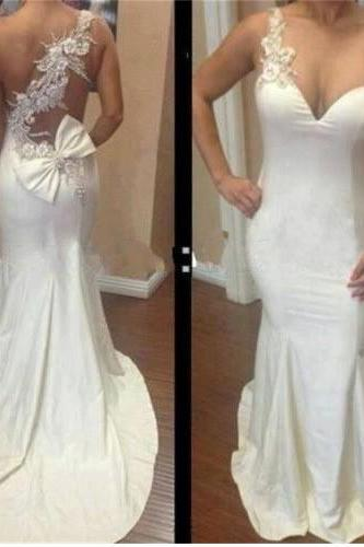 long prom dress, white prom dress, party prom dress, sheath prom dress, cheap prom dress,one shoulder prom dress, evening dress gown, 141277