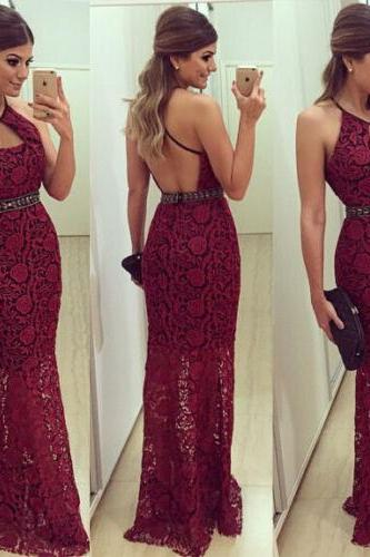 long prom dress,evening prom dress , red prom dress, sleeveless prom dress ,elegant prom dress ,lace prom dress,cheap prom dress,discount prom dress, affordable prom dress,1702