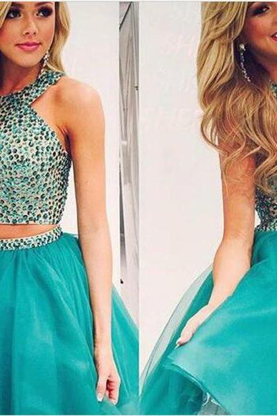simple homecoming dress,green homecoming dress ,two piece homecoming dress ,sleeveless homecoming dress,fashion homecoming dress ,custom homecoming dress ,discount homecoming dress,17127