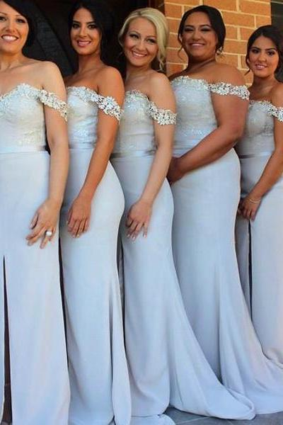 long bridesmaid dress, mermaid bridesmaid dress ,slit bridesmaid dress ,popular bridesmaid dress , sweetheart bridesmaid dress,cheap bridesmaid dress ,custom bridesmaid dress ,17157