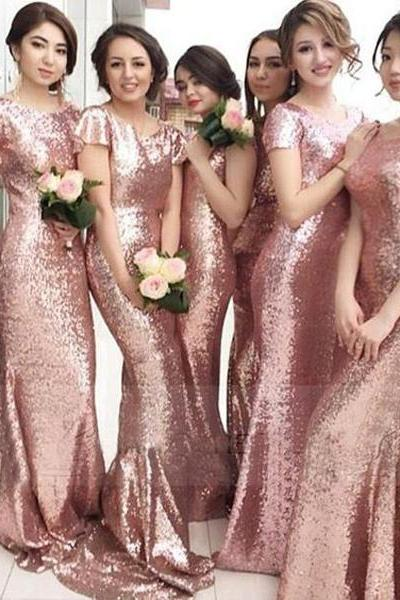 sequin bridesmaid dress ,sparkly bridesmaid dress ,popular bridesmaid dress ,mermaid bridesmaid dress ,short sleeves bridesmaid dress ,custom bridesmaid dress ,cheap bridesmaid dress ,17159