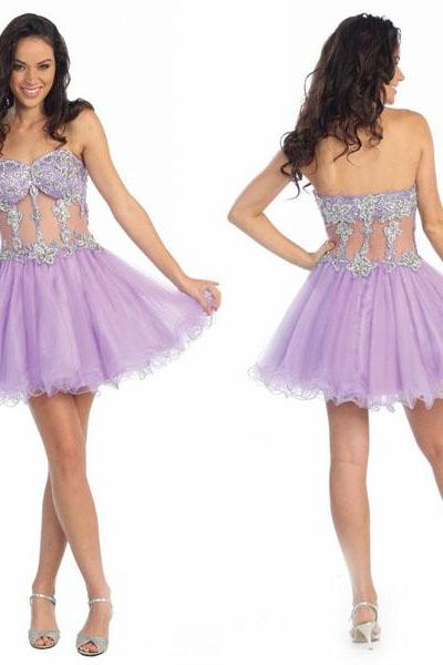 See-through Homecoming Dress,Cheap Homecoming Dress,Short Homecoming dress,Custom made Homecoming Dress,Prom Dress for Junior ,Homecoming Dress,17159