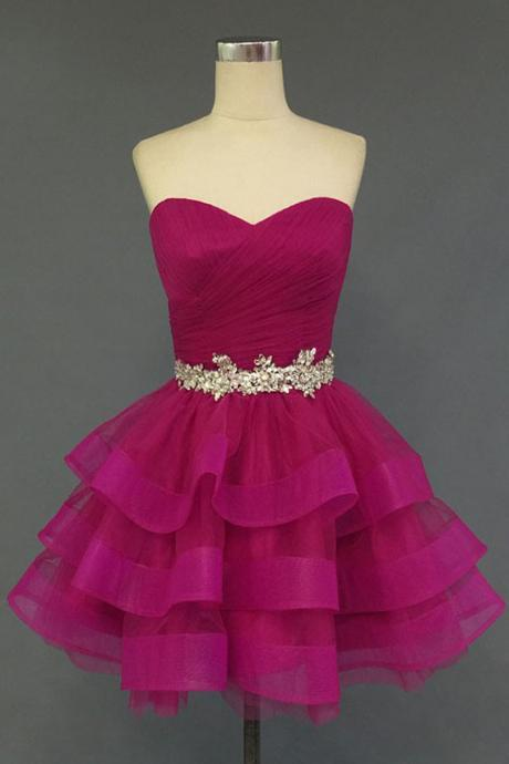 Unique Junior Homecoming Dress, Charming Homecoming Dress,Organza Homecoming Dress,Sweetheart Homecoming Dress, Short Homecoming Dress,Homecoming Dress,17162