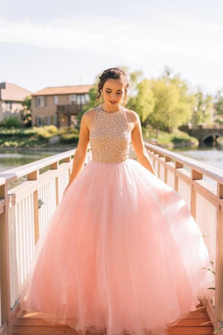Custom Prom Dress,Pretty Prom Dress,Pink Long Prom Gowns,Cute Prom Dresses,Handmade Prom Dresses,Charming Prom Dress,Evening Gowns,Homecoming Dress ,17228