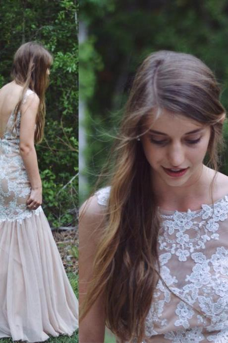 Charming Prom Dress,Tulle Prom Dress,Appliques Prom Dress,Mermaid Prom Dress,Backless Evening Dress,Cheap Prom Dress,Affordable Prom Dress ,17244