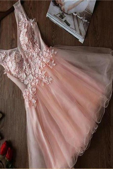 Short Homecoming Dress,Cute Homecoming Dress, Pink Homecoming Dress,Tulle Homecoming Dress, Homecoming Dress,Cocktail Dresses,Graduation Dress,17313