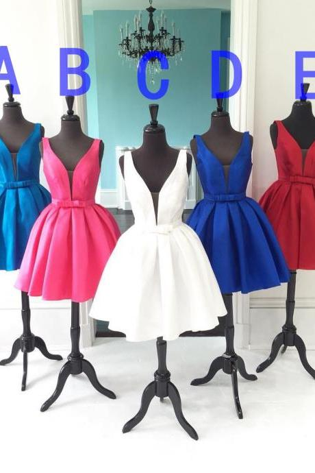V-neck Homecoming Dress,Colorful Homecoming Dress,Junior Homecoming Dress, Sexy Homecoming Dress,Evening Dress, Homecoming Dress ,Prom Dress for Teens,17547