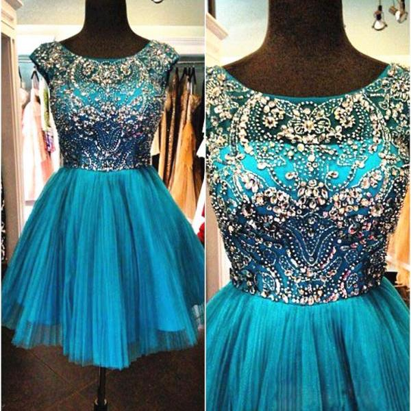 homecoming dress, blue homecoming dress, short homecoming dress, short junior prom dress, party dress for girls,14140