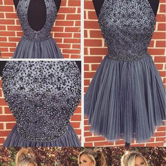 homecoming dress, short homecoming dress, gray homecoming dress, cheap prom dress, party prom dress,charming prom dress, 14508