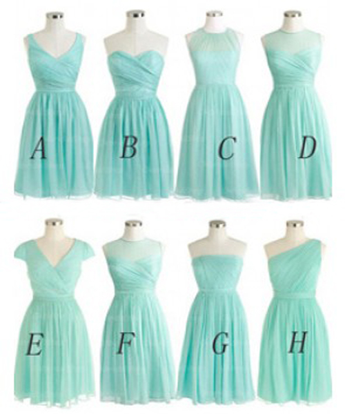 Tiffany blue bridesmaid dress short bridesmaid dress for Wedding dresses with tiffany blue